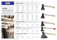 Топор кованый Иж 2071-08 с прямым лезвием и деревянной рукояткой, 0,8кг