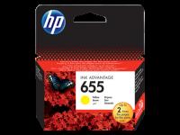 HP 655, Оригинальный картридж HP Ink Advantage, Желтый (CZ112AE)