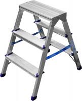 Лестница-стремянка Сибин двухсторонняя алюминиевая, 3 ступени 38825-03