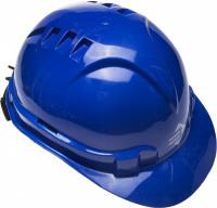 """Каска защитная Зубр """"Эксперт"""" храповый механизм регулировки размера, синяя 11094-3"""