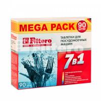 Таблетки Filtero для посудомоечных машин 7 в 1, 90 штук, арт. 703. MEGA PACK