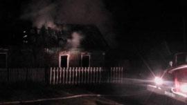 Пожар в Чунском районе
