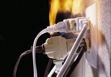 Перегрузка электросети может привести к пожару