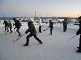 соревнования по хоккею с мячом п. Эдучанка