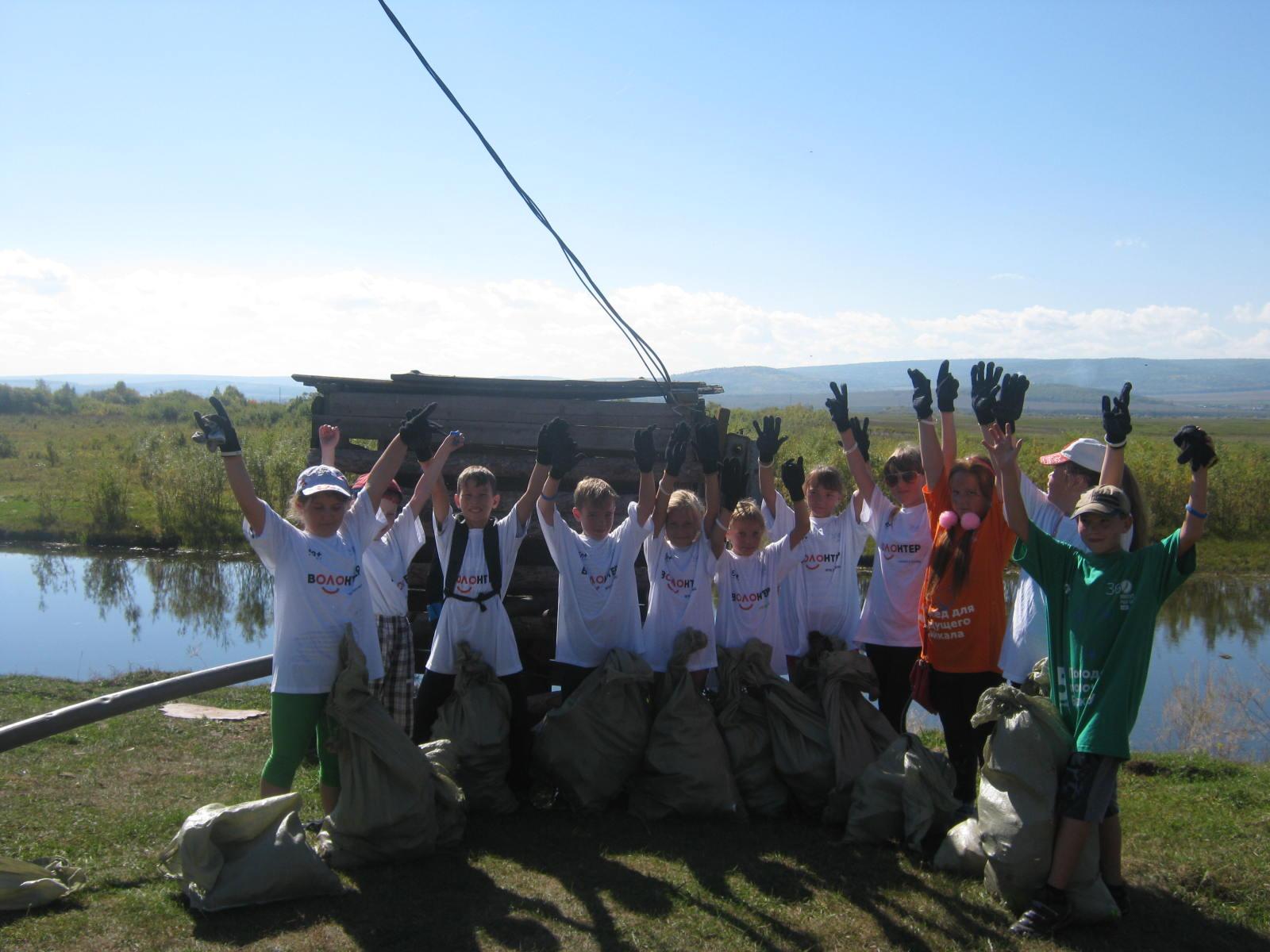 Акция всероссийского волонтерского экологического марафона En + Group «360 минут»