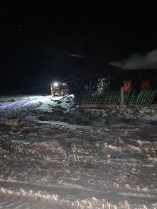 О пожаре в п. Игнино