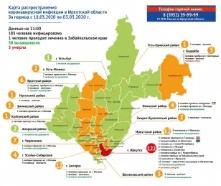 Карта распространения коронавируса в Иркутской области на 03.05.2020