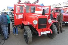 Раритетная пожарная техника побывала в Куйтуне