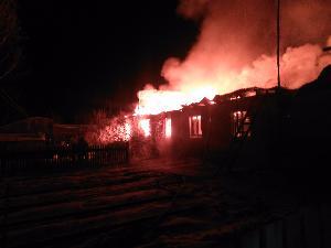 Пожар в р.п. Железнодорожный