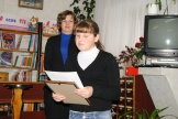 Сергеева Виктория, читатель Железнодорожной библиотеки, занявшая I  место  в областном конкурсе литературного творчества «Встречь солнцу» в номинации «В мире с природой», читает свои стихи.