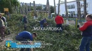 10.09.2018 В Михайловке прошел масштабный субботник