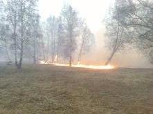 «Сообщает служба 01» Пал сухой травы может привести к лесному пожару, а также к уничтожению объектов жилья и экономики!