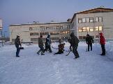 соревнования по хоккею с мячом на валенках п. Эдучанка