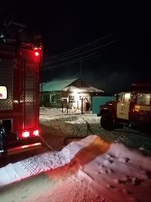 15.02.2021г. в 05:53 на телефон 01 поступило сообщение о пожаре п. Куйтун ул. Ворошилова.
