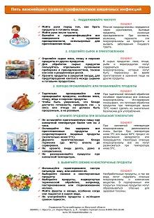ТО Роспотребнадзора. 5 важнейших правил профилактики кишечных инфекций. от 20.07.17г.