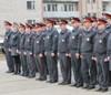 Полиция провела открытый смотр личного состава и техники