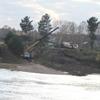 На строительство моста доставили технику из Хабаровска