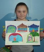 Мишарина Елена, будущий центр поселка, 10 лет