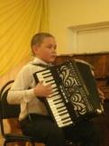 Юный аккордеонист Марякин Юрий