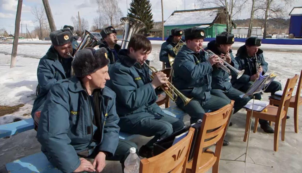 21.03.2016 Оркестр ГУ МЧС в селе Тальники