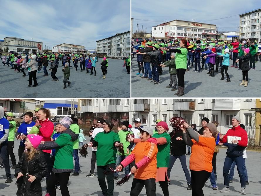 Девиз Всемирного Дня здоровья 2019 в Чунском районе «Зарядка с нас, здоровье с Вас!»