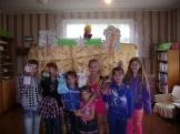Участники кукольного спектакля «Кто сказал «Мяу?». Эдучанская сельская библиотека