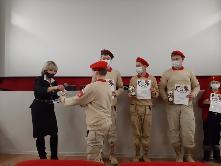 18-го декабря 2020 года на базе СКЦ «Кадинский» прошла церемония награждения активистов Юнармейского движения МО Куйтунский район.