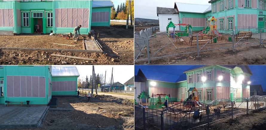 «Комфортная среда» в Новочунке: обновлена площадка перед Досуговым центром