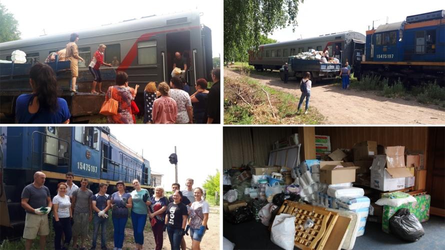 В район продолжает поступать гуманитарная помощь для жителей подтопленных поселений