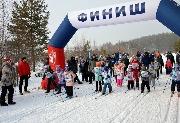 Самые маленькие участники на дистанции 1 км.