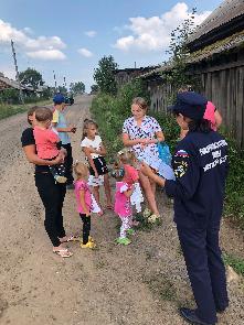Муниципальный рейд по обучению населения мерам пожарной безопасности в п. Майский