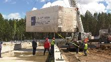 Сбербанк приступил к монтажу модульных конструкций в Тулуне