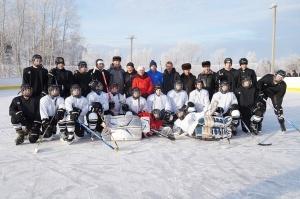 Открытие хоккейного корта в городе Бирюсинске