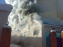 Огонь, который едва не уничтожил жилой дом