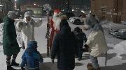 Поздравление детей на улицах р.п. Железнодорожный МУ МЦК