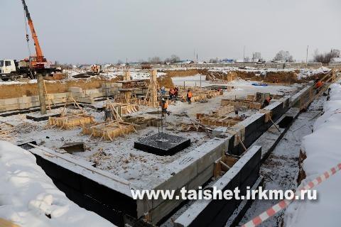 Школа в г. Бирюсинске строится по плану