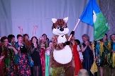 Символ Усть-Илимского района и участники творческой программы