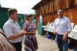 Во вторник в Черемховском районе с рабочим визитом побывал депутат Государственной думы Сергей Тен