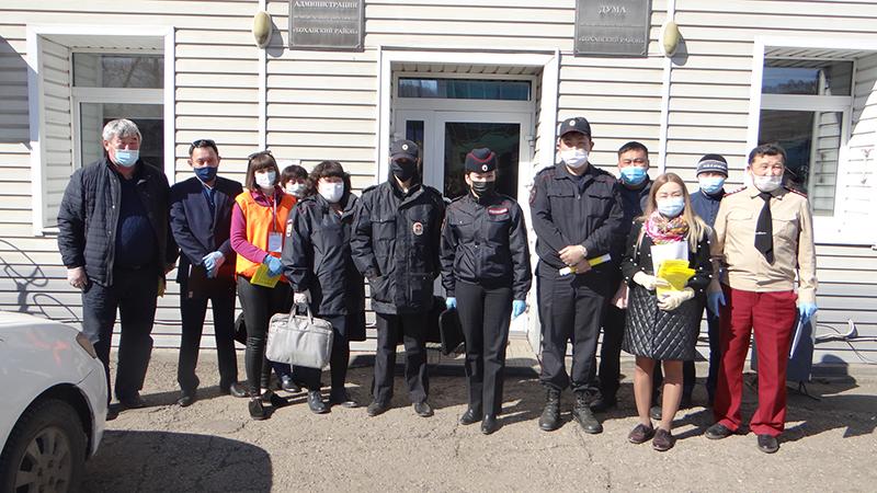 Всероссийская акция волонтеров взаимопомощи #МЫВМЕСТЕ на территории МО «Боханский район»