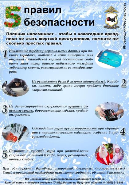5 правил безопасности: #новогодняябезопасность