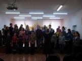 Подготовка сводного хора Лазурь к региональному фестивалю духовной музыки Рождественская звезда