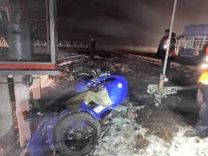 Грубое нарушение водителем мотоцикла правил дорожного движения стало причиной ДТП на железнодорожном переезде