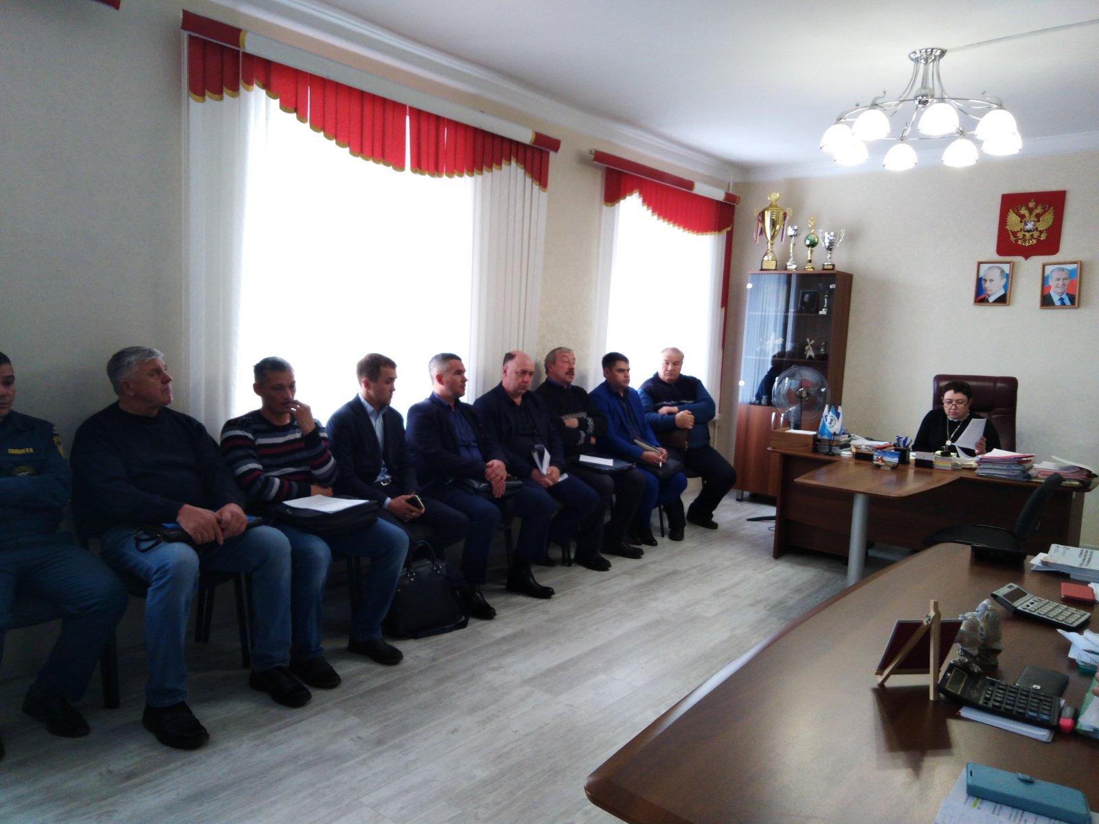 Совещание мэра района Т.С. Кирилловой с главами поселений
