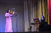 А.Варутина - лауреат международных конкурсов (скрипка) и Ю.Цогла - дипломант международных конкурсов (фортепиано)