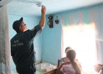 Малоимущим установят пожарные  извещатели