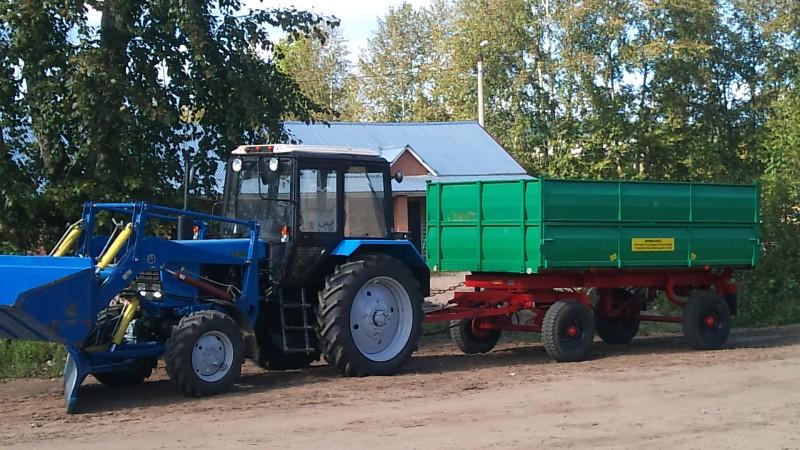 В Лесогорске «народный трактор» вышел на работу