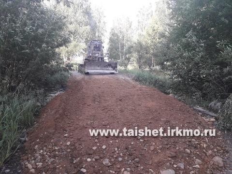 В затопленных муниципальных образованиях Тайшетского района восстанавливают дороги