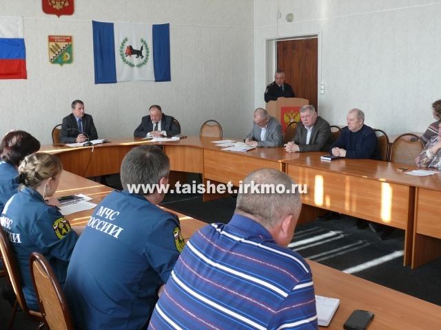Заседание КЧС по готовности к паводкам прошло в администрации Тайшетского района