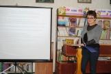 Заведующая Отделом формирования фондов и систематизации документов, Антипина М.И., знакомит участников семинара с видами и формами учёта библиотечного фонда