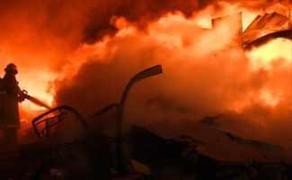 На пожаре в Бунбуе погиб человек